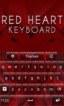 Red Heart Keyboard poster