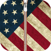American Zipper Lock Screen icon