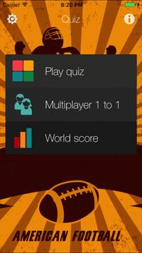 American Football Quiz for NFL poster