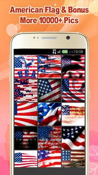 American Flag Wallpaper poster