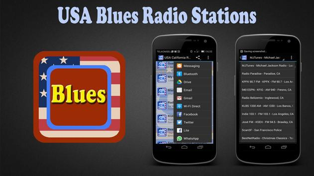 USA Blues Radio Stations poster