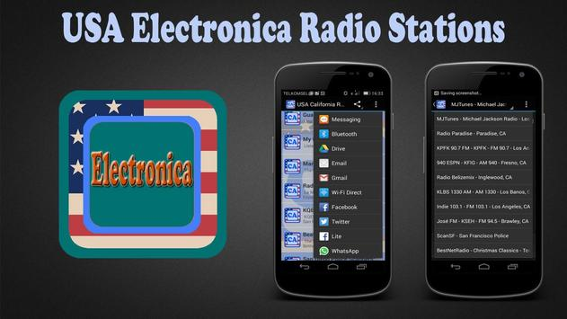 USA Electronica Radio Stations poster