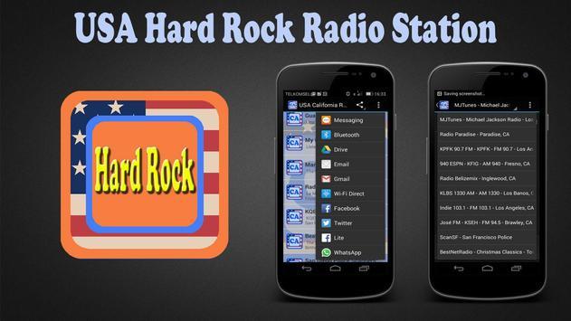 USA Hard Rock Radio Station poster