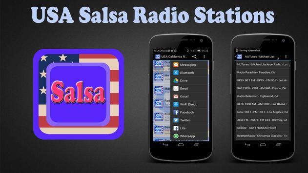 USA Salsa Radio Stations poster