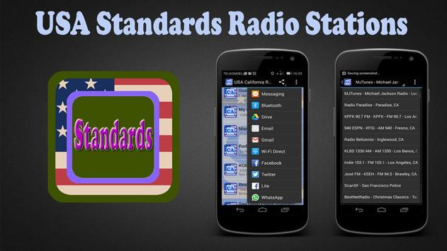 USA Standards Radio poster