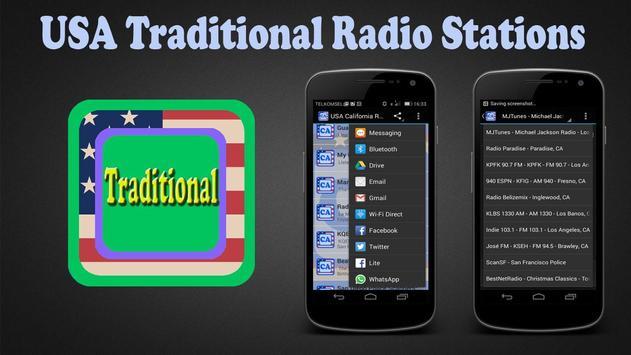 USA Traditional Radio Stations poster