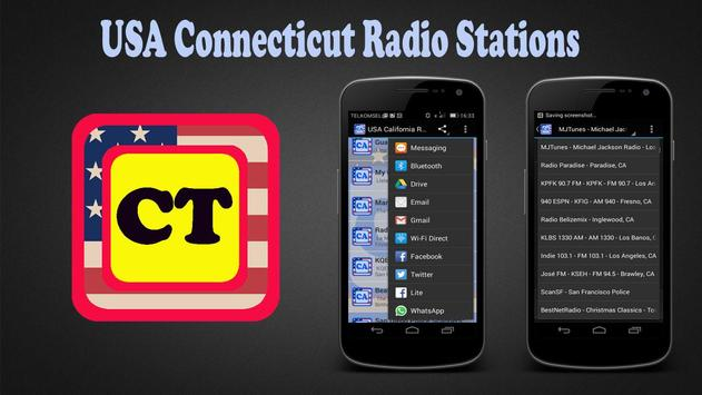 USA Connecticut Radio Stations poster