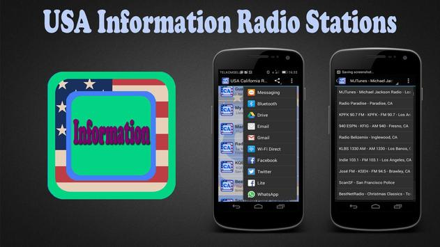 USA Information Radio Stations poster