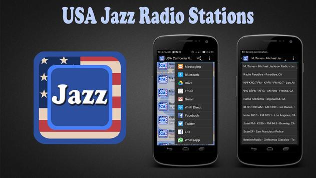 USA Jazz Radio Stations poster