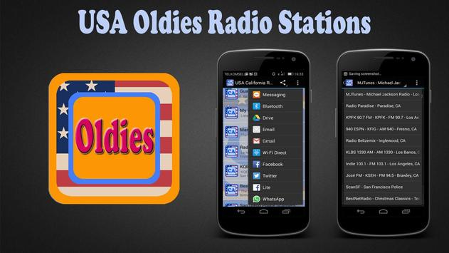 USA Oldies Radio Stations poster