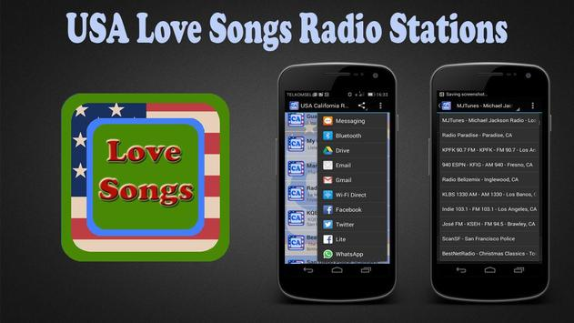 USA Love Songs Radio Stations poster