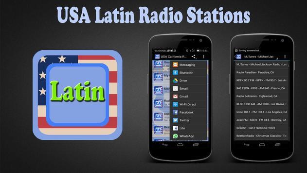 USA Latin Radio Stations poster