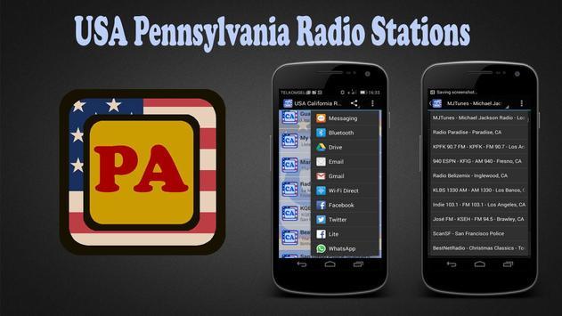 USA Pennsylvania Radio Station poster