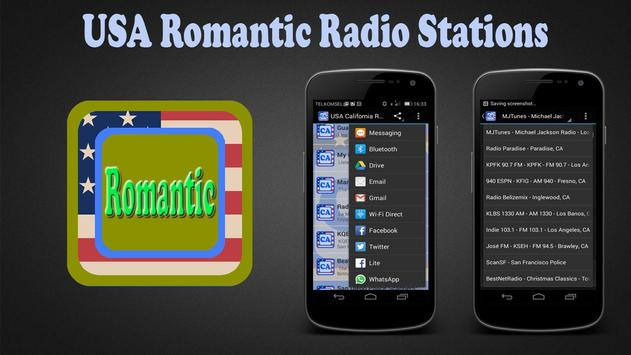 USA Romantic Radio Stations poster