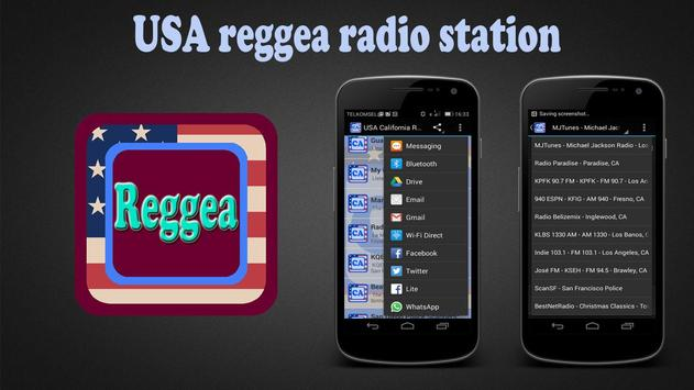 USA reggea radio station poster