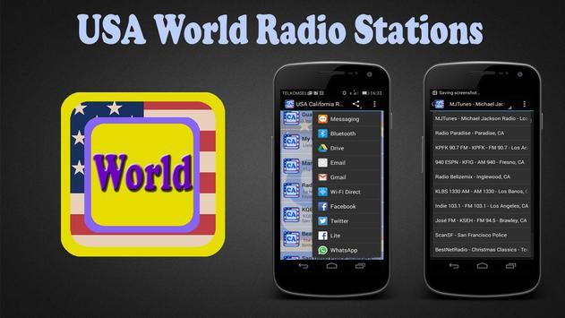 USA World Radio Stations poster