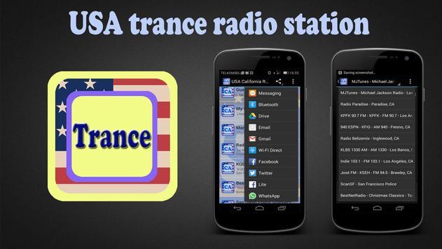 USA trance radio station poster