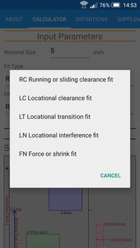 Fit Tolerance ANSI screenshot 2