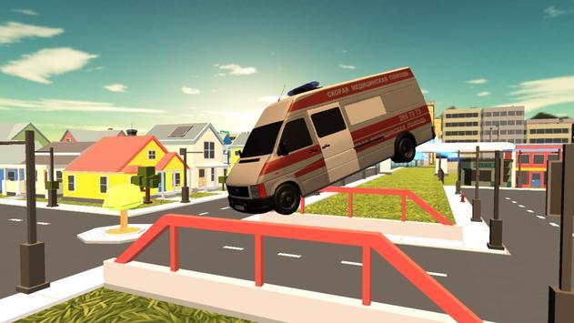 Flying Ambulance 3d simulator apk screenshot