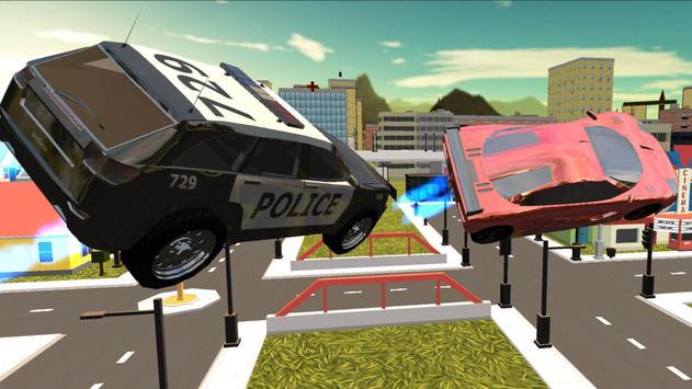 Flying Police Car Free Ride 3D apk screenshot