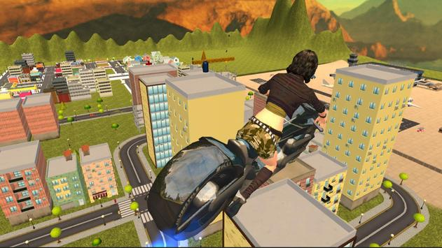 Flying Moto Bike City Ride 3D apk screenshot