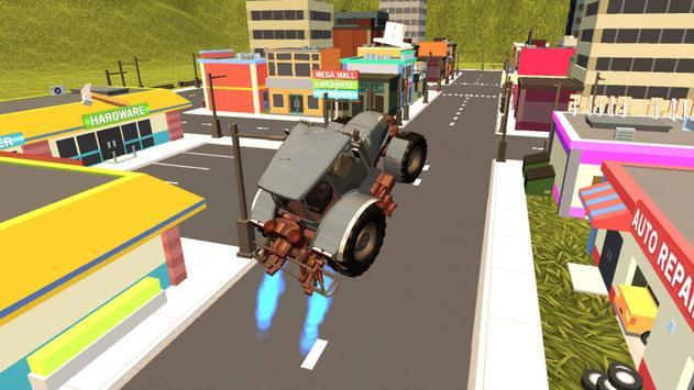 Flying Tractor Ride Simulator apk screenshot