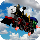 Flying Train Xtreme City Ride icon