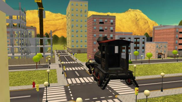 Flying Train Xtreme City Ride apk screenshot