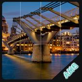 Slide Puzzles Beautiful Bridges icon