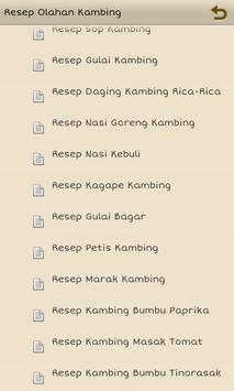 Resep Olahan Kambing screenshot 1