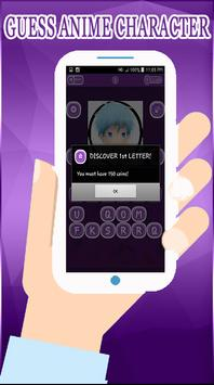 Otaku Guess anime character apk screenshot