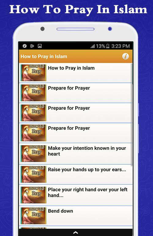 How to pray in islam poster