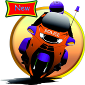 Game Bike police icon