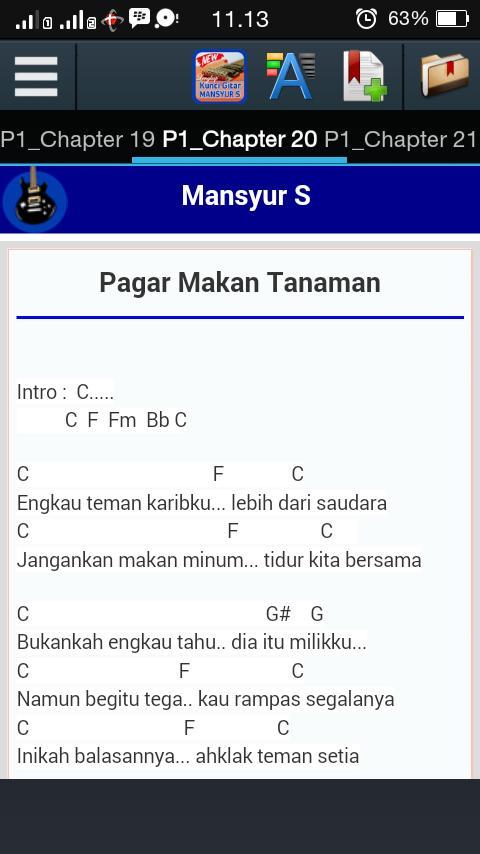 Kunci Gitar Mansyur S For Android Apk Download