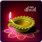 Name on Diwali Greetings Cards icon