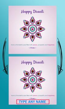 Name on Diwali Greetings Cards poster
