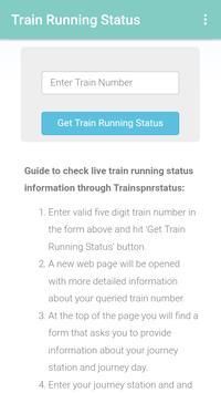 PNR status apk screenshot