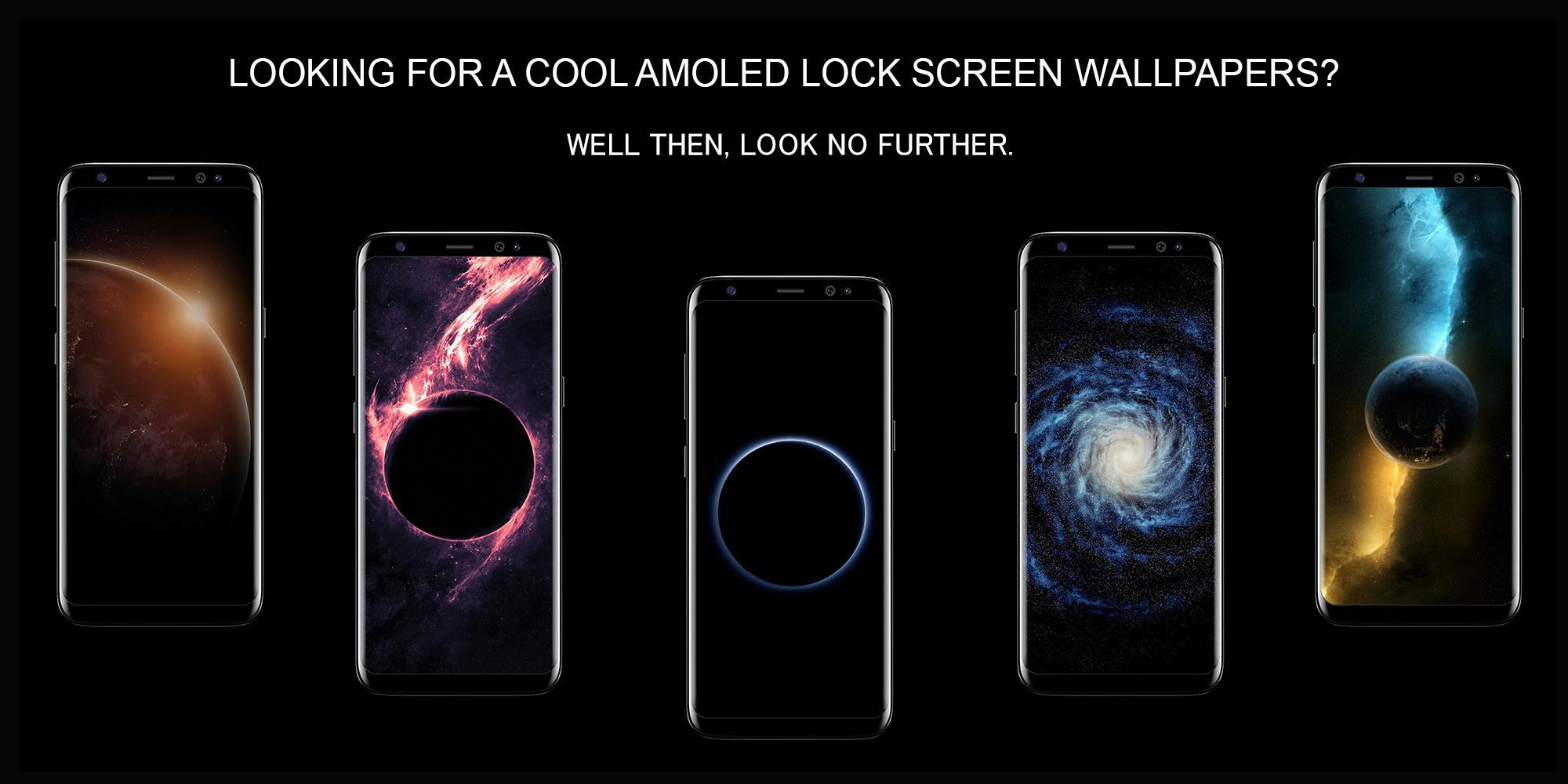 Galaxy Dark Black Amoled Lock Screen Wallpaper For Android Apk Download