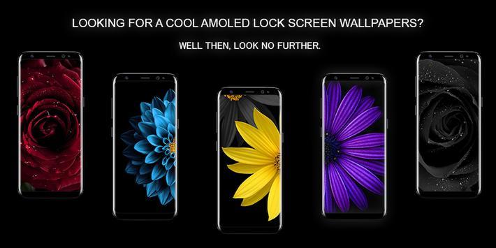 Flowers AMOLED Wallpaper for lock screen poster