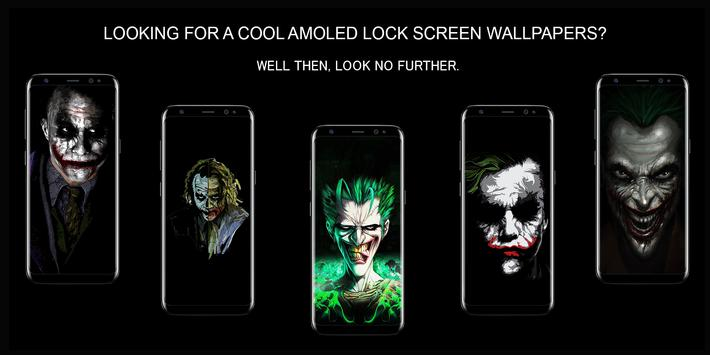 Joker Dark Black AMOLED Lock Screen Wallpaper Poster