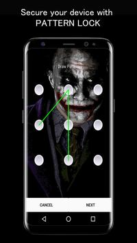 Joker Dark Black AMOLED Lock Screen Wallpaper captura de pantalla 2
