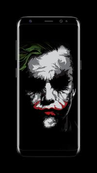 Joker Dark Black AMOLED Lock Screen Wallpaper Ekran Görüntüsü 4