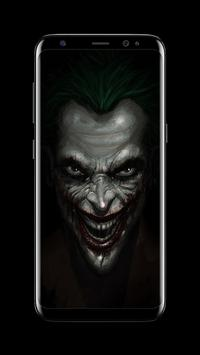 Joker Dark Black AMOLED Lock Screen Wallpaper captura de pantalla 6