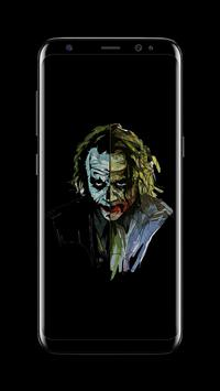 Joker Dark Black AMOLED Lock Screen Wallpaper Ekran Görüntüsü 9