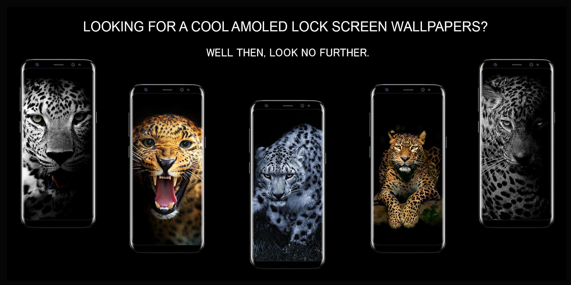 Leopard Dark Black Amoled Lock Screen Wallpaper For Android Apk