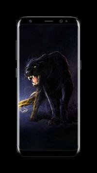 Puma Black Panther AMOLED Lock Screen Wallpaper Screenshot 6
