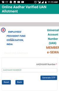 EPFO Balance Check and UAN Number apk screenshot