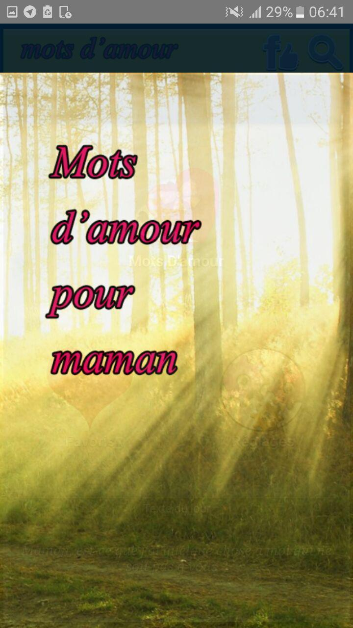 Meilleur Mots Damour Pour Ta Maman For Android Apk Download