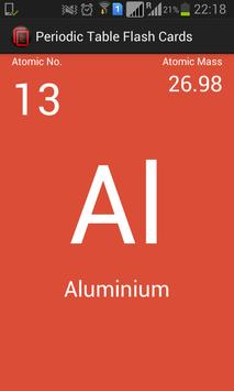 Periodic table flash cards apk download free education app for periodic table flash cards poster urtaz Image collections