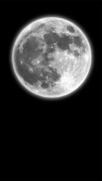 Dark Moonlight.Black wallpaper poster